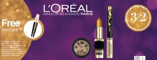 Free volume million lash mascara worth £10 when you buy 3 for 2 L'Oreal Paris @ superdrug