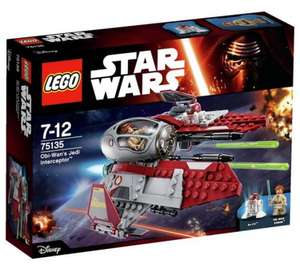 LEGO Star Wars Obi-Wans Jedi Interceptor £9.99 @ argos / plus 4.4% cash back on Quidco