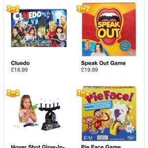3 for 2 on ALL board games @ Smyths Toys