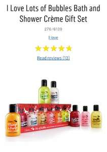 I Love Lots of Bubbles Bath and Shower Crème Gift Set x 6 (100ml each) was £4.99 now £3 Free Click & Collect @ Argos