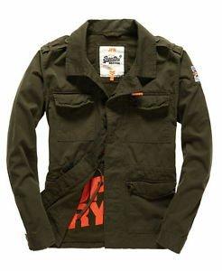 Superdry Rookie Military Blazer Dark Khaki £35.99 Superdry on ebay