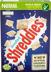 Nestle Frosted Shreddies Cereal (500g) Half Price was £2.49 now £1.24 @ Tesco