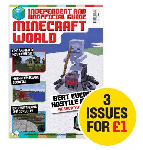magazine subscription 3 issues for £1 - minecraftworldmagazine.co.uk (Dennis Publishing)