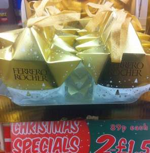Ferrero rocher Christmas decoration chocolate 2 for £1.50 Jack Fulton
