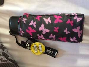 Super Light Weight Butterfly Umbrellas (RRP £8.99) Now £2.25 at Superdrug in Lincoln