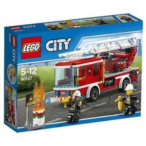 Lego City Fire 60107: Fire Ladder Truck Mixed £10.00 @ Amazon (Prime Only)