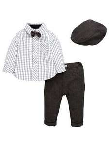 Ladybird Baby Boys 4PC Cap, Bowtie, Shirt and Trouser Set (Was from £22.00) Now from £12.00 at Very