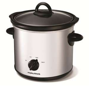 Morphy Richards 3.5L round slow cooker was £39.99 now £17 or 5.5L was £49.99 now £23.37 delivered with code Slow cooker hot chocolate / mulled wine? @ Morphy Richards