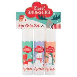 Sweet Snuggles Lip Balm Trio Vanilla was £3 now £1 superdrug