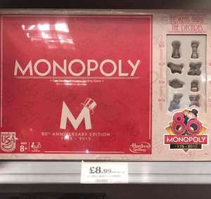 Monopoly anniversary edition £8.99 @ Home Bargains