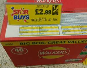 Walkers 40 pack Box £2.99 @ Home Bargains