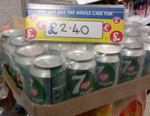 7up Mojito 330ml 24pk case £2.40 @ Home Bargains