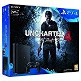 Sony PlayStation 4 500GB Slim With Uncharted 4 Bundle £175.55 @ Amazon