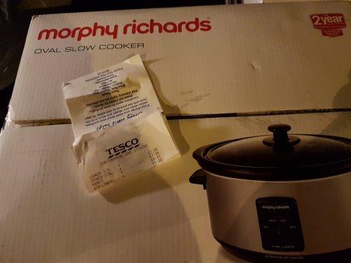 morphy richards 3.5ltr slow cooker £7.38 @ tesco instore - Corstorphine Edinburgh.