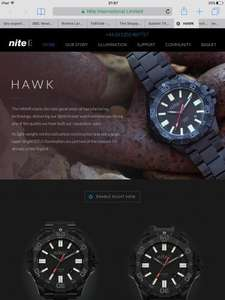 40% off selected Nite Hawk models (from £165, using code) @ Nite Watches