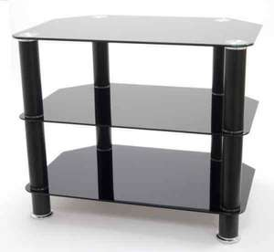 PIXEL Black tinted glass tv stand @ richer sounds £8.95