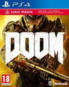 DOOM With Only At GAME UAC Pack (PS4/XO) £13.50 Delivered (Using Code) @ GAME