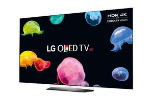 "LG OLED55B6V 55"" Smart Built-in Wi-Fi UHD 2160P OLED TV with Freeview HD 5yr warranty and 12 months Sky Q in Black £1839 Hughes"