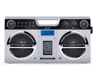 Bush Retro Boombox with Docking Station  DAB/FM Tuner - Silver- £29.99 @ Argos