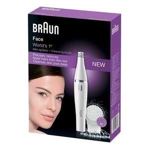 Braun Face 810 Women's Facial Epilator and Facial Cleansing Brush Electric Hair Removal £24.99 delivered @ Amazon