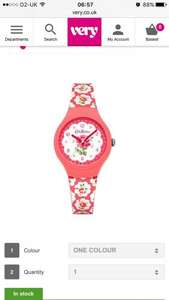 Cath kidston watch at very for £27.00