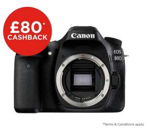 Canon 80D DSLR Body Only @ Argos £819.99 (£739.99 after £80 Cashback)