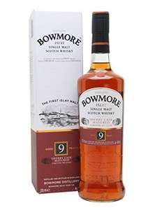 Bowmore 9 y/o sherry cask islay whisky £22.99 @ Amazon