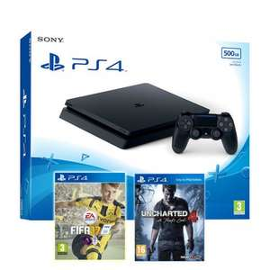 PS4 Slim 500GB Console + Fifa 17 + Uncharted 4: A Thief's End / PS4 500GB Console + Call of Duty: Infinite Warfare Bundle £197.86 Delivered each @ ShopTo