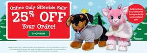 Build a Bear Workshop 25% off Sitewide (Online Only). Delivery £3.25
