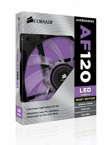 Corsair AF120 quiet edition case fans purple LED 1/2 pack Amazon £13.49 (Prime exclusive)