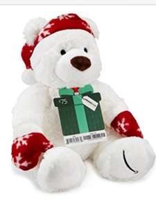 Free Christmas teddy with Amazon gift card £75 and above (free one day delivery for everyone)