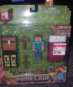 Minecraft figures survival pack £2.99 in ' This is it ' shop in Exeter