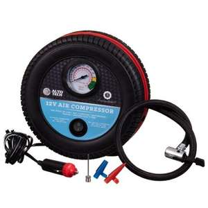 Auto Tech Air Compressor 12V   B&M Stores - £2