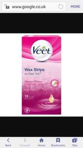 Veet Wax Strips 18 pack with 4 finish wipes ONLY 99p in Sam 99