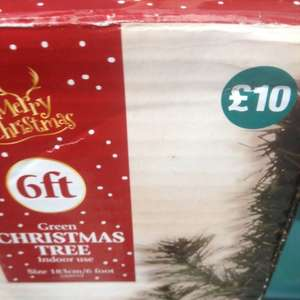 6ft Christmas Xmas tree - £10 - pound land - in store