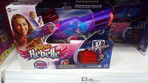 Nerf rebelle messenger £3.99 instore @ Home Bargains