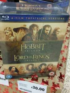 middle earth (hobbit &  lord of the rings) bluray at tesco £30, 6 disc @Tesco instore (found Stevenage)
