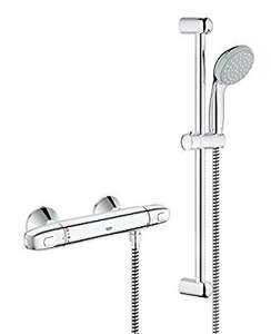 GROHE Grohtherm 1000 Shower Thermostat with Tempesta 100 Shower Set, 600 mm Shower Rail,  £66.97 Amazon lightning deal