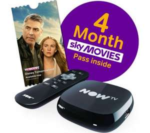 NOW TV Box with 4 month Sky Movies Pass or 6 month Entertainment Pass for £19 delivered at Currys