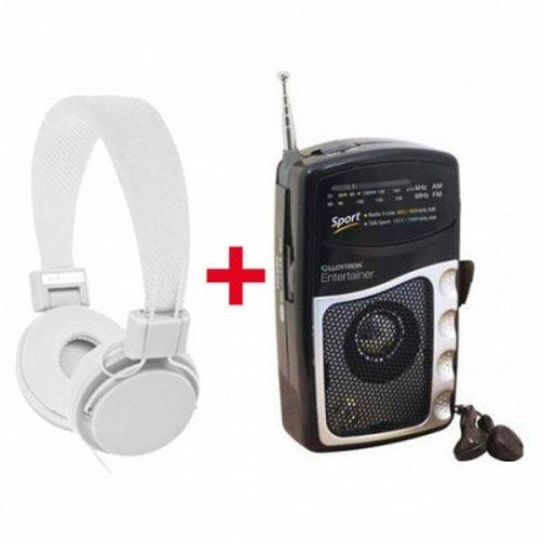 Radio Gift Set (White) AM/FM Personnal Radio + Headphones £11.59 - MemoryBits