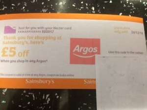 Sainsbury's giving out Argos voucher