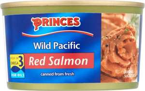 Princes Wild Pacific Red Salmon (213g) half price was £3.00 now £1.50 @ Tesco