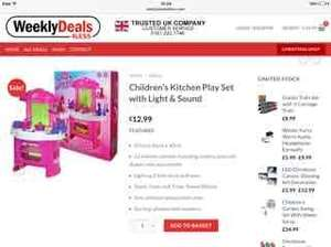 Childrens Kitchen Play Set with Lights & Sound £6.50 delivered with code @ Weeklydeals4less