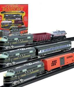 Working train set with 3.5 metre track and working lights £4.50 delivered (with code) @ Weeklydeals4less