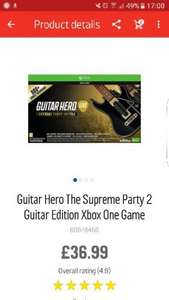 Guitar Hero The Supreme Party 2 Guitar Edition XBOX ONE - £36.99 @ Argos