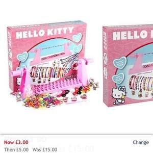 Hello Kitty 2 In 1 Loopy Loom Band And Braid Set, was £15 now £3 house of fraser