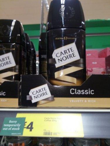 200g Classic Carte Noire £4 instore @ Morrisons