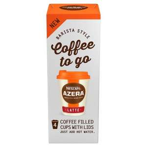 Nescafe Azera Coffee To Go Latte / Americano (4 Cups) £2 @ Tesco