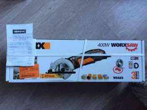 Worx 400W Mini Circular Saw £20 @ Homebase East Kilbride