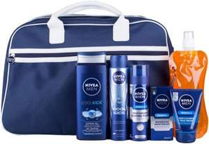 Nivea Men Ultimate Fitness Bag and Water Bottle Gift Set - 5-Piece £12.50 Prime / £17.25 Non Prime @ Amazon
